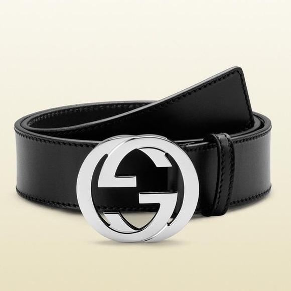 a6da45bcadd Gucci Accessories - Gucci black belt with silver AUTHENTIC